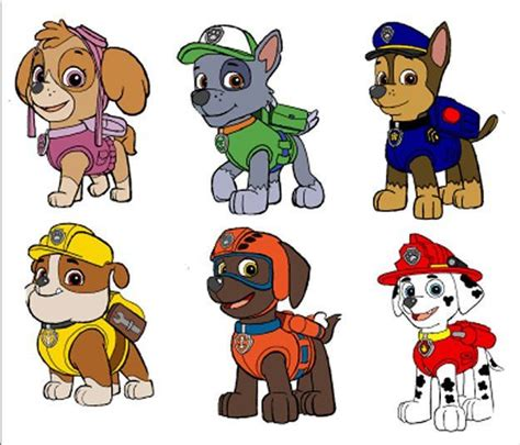 printable images of paw patrol printable paw patrol characters bing images print these
