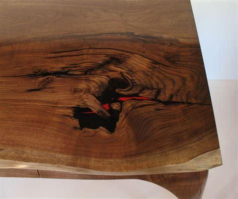 custom  black walnut writing desk  ober woodworking