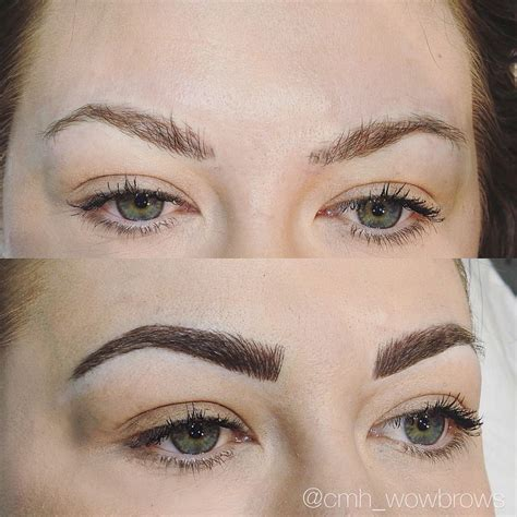 tattooed on eyebrows best 25 feather eyebrow ideas on