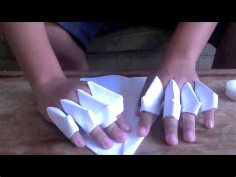 Origami Gauntlet - how to make a paper gauntlet