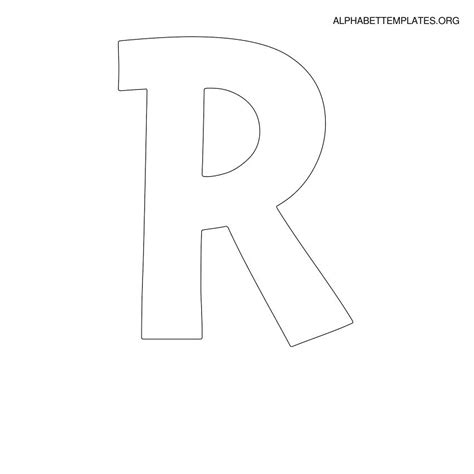 letter r template 5 best images of free printable alphabet templates letter