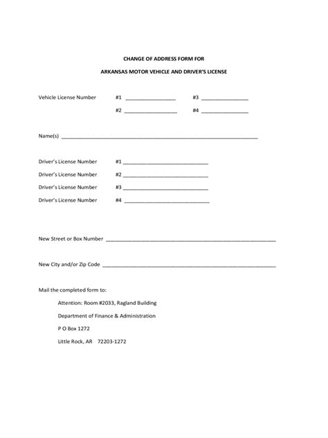 change of address template dmv change of address form 16 free templates in pdf