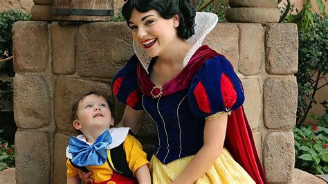Snow White snow white toddler with autism tender moment
