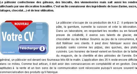 Lettre De Motivation De Patissier Mod 232 Le Et Exemple De Lettre De Motivation P 226 Tissier