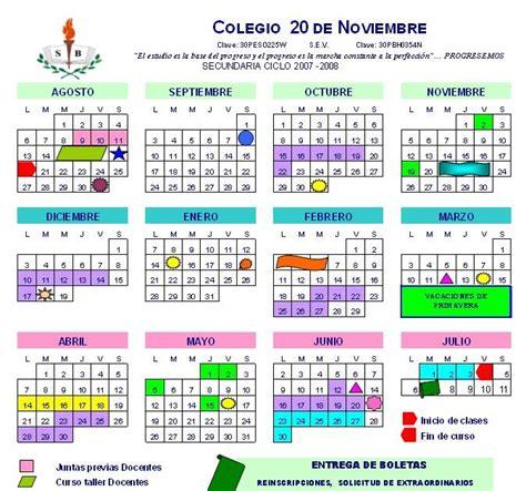 W Run Calendario Colegio 20 De Noviembre Calendarios 2007 2008