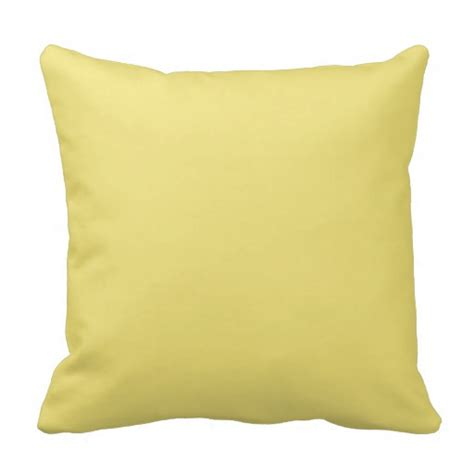 Yellow Pillows For Sofa Pale Light Yellow Decorative Throw Pillows Zazzle