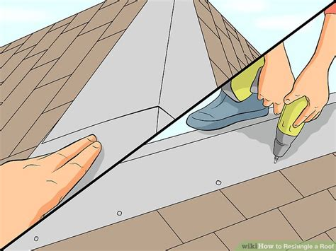 reshingle  roof  steps  pictures wikihow