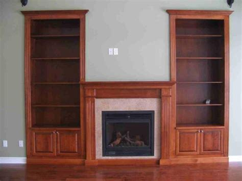 custom fireplace with built in bookshelves cedar ridge