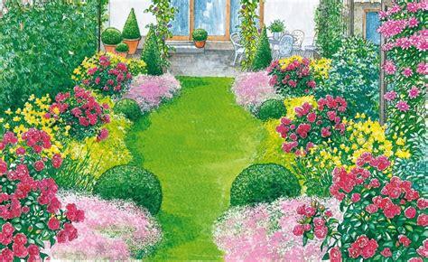 Garten Blumen 1093 by Ein Reihenhausgarten Aus Der Reihe Bessy