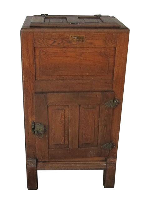 near antique 1920s australian metters enamel kitchen vintage wooden overland ice box refrigerator refrigerator