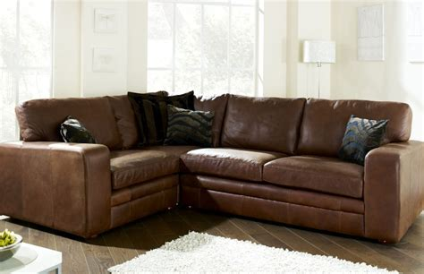 Abbey Leather Corner Settee Corner Sofas