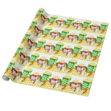 How To Make Wrapping Paper - popcorn wrapping paper gift wrap paper zazzle