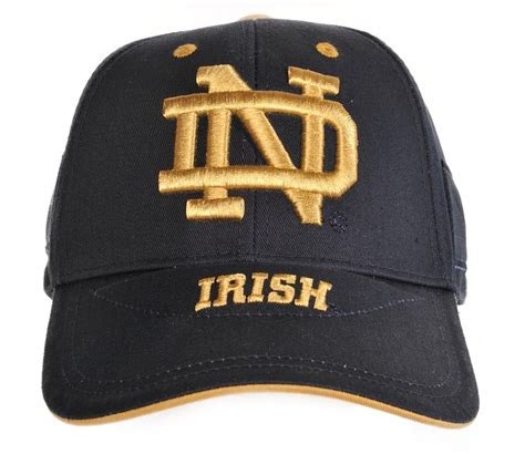 notre dame colors notre dame fighting school color cap