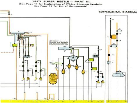1973 vw beetle wiring diagram wiring diagrams
