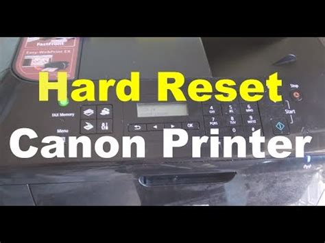 how to reset canon printer pixma ip1880 reset canon printers videolike