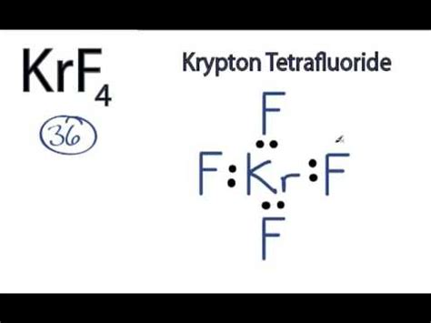 krf4 lewis structure: how to draw the lewis structure for