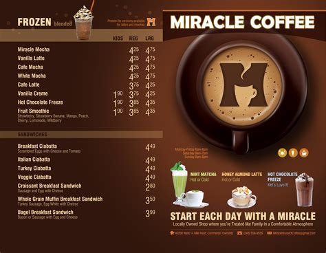 Coffee Miracle miracle coffee house menu menu for miracle coffee house