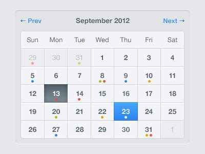 Website Calendar Calendar Design For Web Calendar Template 2016