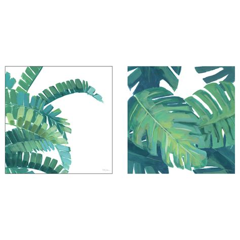 ikea leaves tvilling poster set of 2 big leaves ii 50x50 cm ikea
