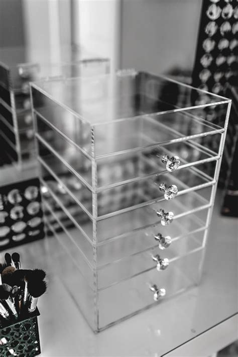 Organizer Kotak Organizer Make Up Organizer Kotak Kosmetik 6 drawer acrylic makeup organizer cube cosmetics storage box luxury knob ebay