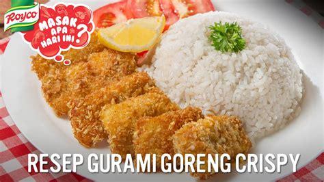 resep gurame goreng crispy viyoutube