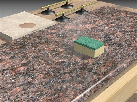Granite Countertop Filler by How To Seam Granite 10 Steps With Pictures Wikihow