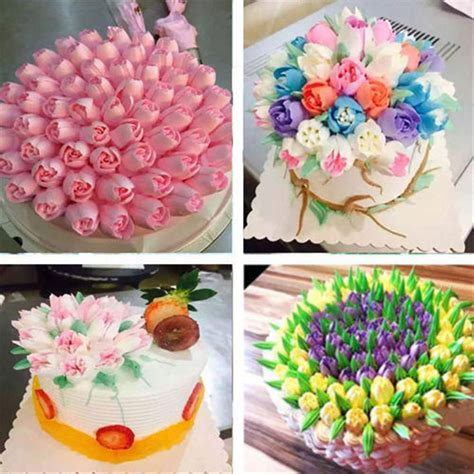 pcs russian tulip flower cake icing piping nozzles