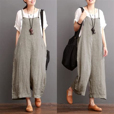 Livia Overall Dress Dres Maxy Murah Abaya Baju Wanita cotton linen sen department causel overalls big pocket maxi size fantasylinen