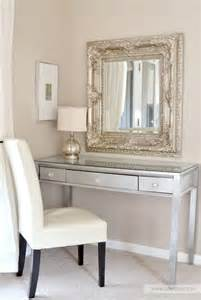 Diy Bedroom Vanity Plans Diy Silver Leaf Vanity Made From An Thrift Store Desk