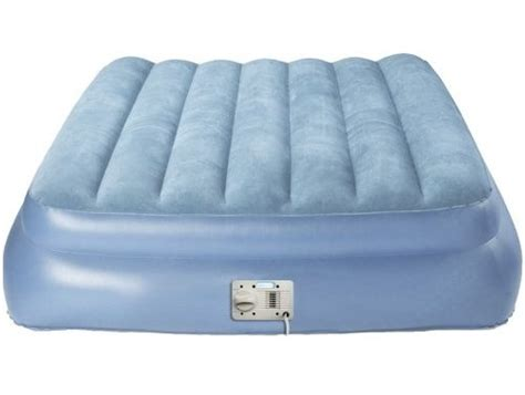 aero air bed raised aero bed queen size inflatable aerobed with attached air pump