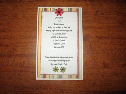 how to make your own wedding invitations with pictures make your own wedding invitations