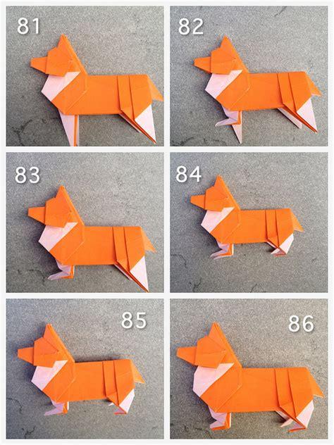 Step Fold Origami - origami corgi has 80 folding steps not something i