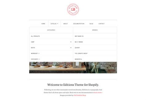 shopify themes with drop down menu how to add nested navigation to shopify themes
