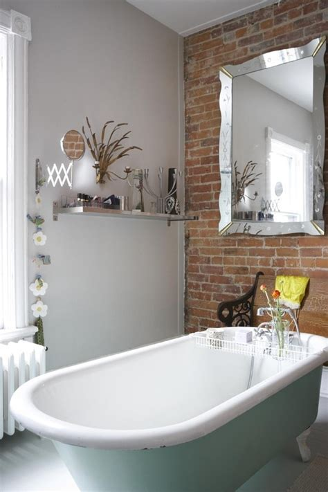 brick bathroom wall 39 stylish bathrooms with brick walls and ceilings digsdigs