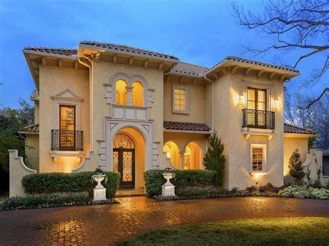 exquisite mediterranean style home in dallas texas