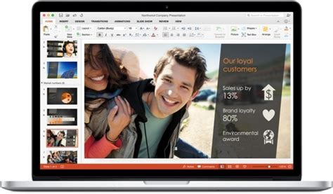 New Features Of Office 2016 For Mac Powerpoint Presentation Powerpoint Templates For Mac 2016