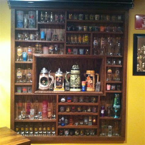 pint glass display cabinet beer glass cabinet shot glass and mug display for the