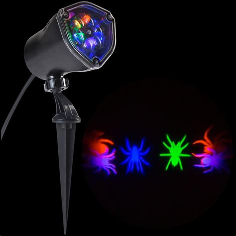 gemmy halloween projection lights lightshow 11 81 in projection whirl a motion ogpb spiders