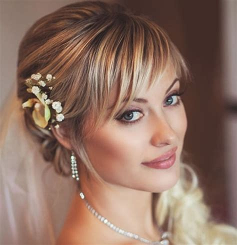 Wedding Hairstyles Hair With Bangs by 20 Stunning Wedding Hairstyles