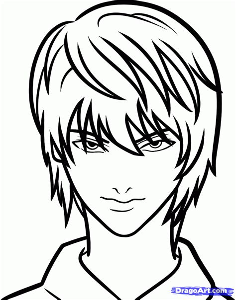 step by step death note near hairstyle how to draw light yagami easy death note step by step