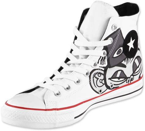 Sepatu Converse Gorillaz converse all hi gorillaz schoenen wit