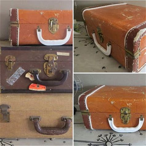 vintage luggage home decor vintage suitcase stackable suitcase small from