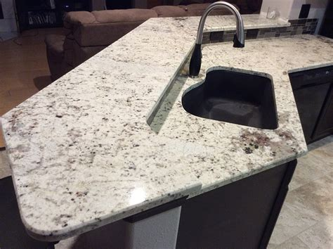 Galaxy White Granite Countertop by White Galaxy Granite Countertops Installation