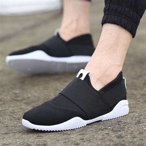 Sepatu Sneakers Casual Flat Pria 656 01 breathable elastic bnad slip on casual sneakers us 23 95