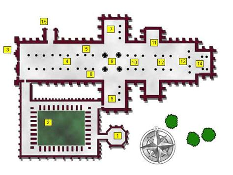 parts of a cathedral floor plan timeref medieval and middle ages history timelines