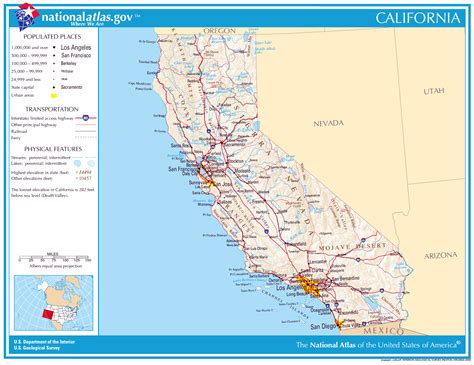 detailed map of california usa large detailed map of california state california state