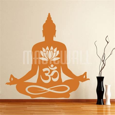 buddha wall sticker om buddha lotus wall decals stickers canada