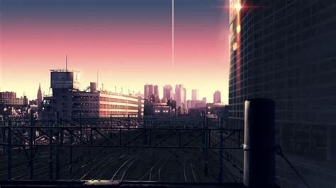 wallpaper anime city cityscape city town anime scenery background wallpaper