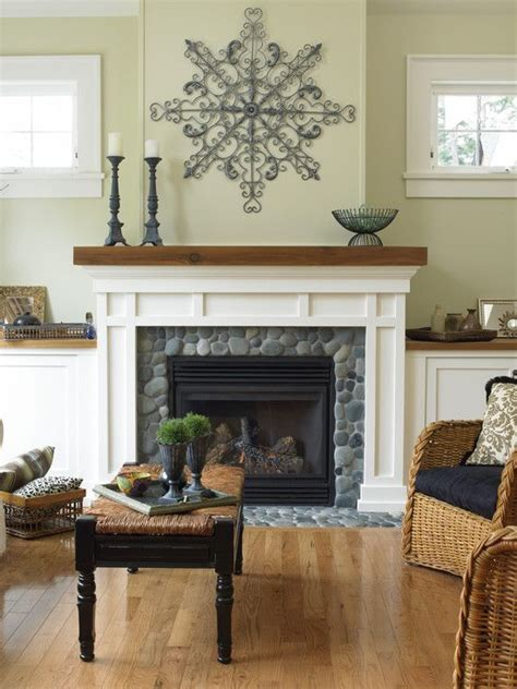 Rock Around Fireplace by 17 Best Ideas About River Rock Fireplaces On