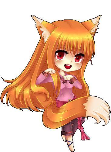 anime chibi wolf spice and wolf chibi by tish on deviantart